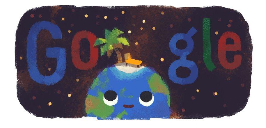 Image for the Tweet beginning: Today's #GoogleDoodle is all set