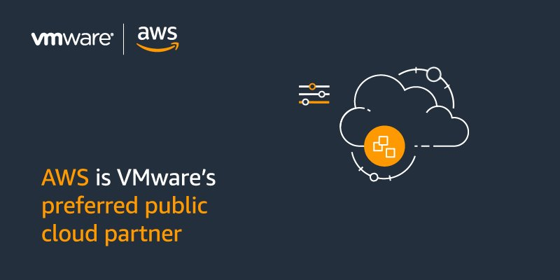 Image for the Tweet beginning: The AWS and @VMware partnership