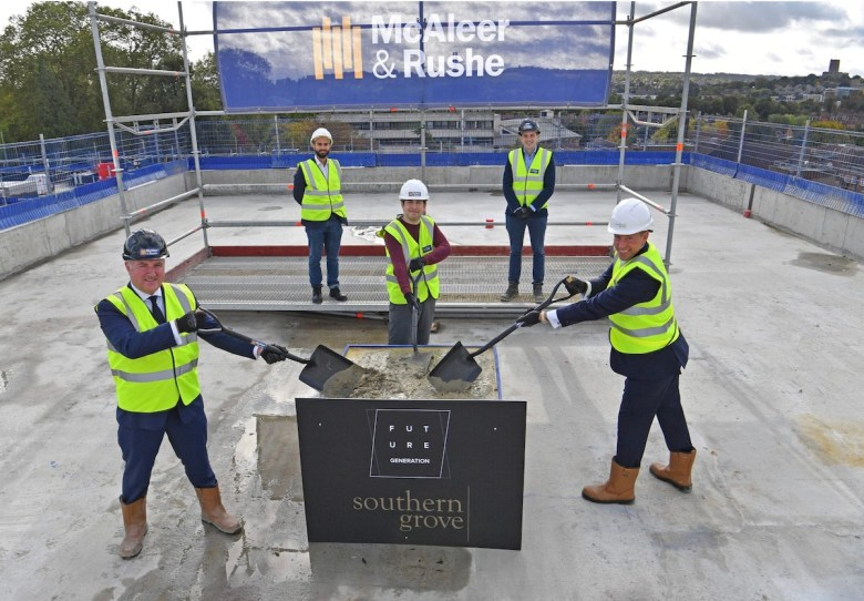 Guilden Park topping out ceremony - McAleer & Rushe | Future Generation | PBSA News