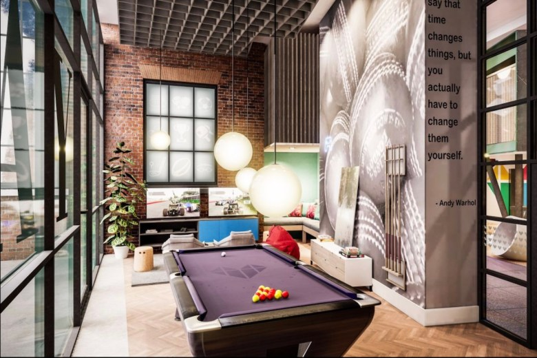 IconInc communal area and pool table at Gravity - The Park Lane Group | PBSA News