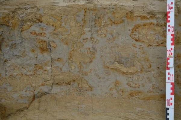 klasty piaszczyste w osadach spływu mulowego, sandy clasts in mudflow, NW Poland, Gosia Pisarska-Jamrozy