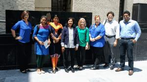 Pictured left to right: Brandy Semore, Yamini Krishnan, Ravindra Talwadker, Naveena Swamy, Katie Roberts, Anna Vakulick, Jeff Moore, Zee Nawaz.