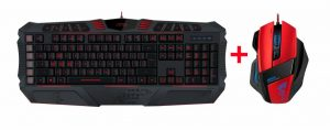 Game Toetsenbord en muis set van speedlink De Parthica core gaming toetsenbord en Decus gaming muis