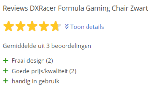 dxracer stoel review