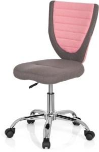 hjh office Kiddy Comfort - Bureaustoel - Stof - Grijs/roze