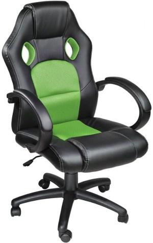 Luxe design bureaustoel racing style Bureaustoel groen
