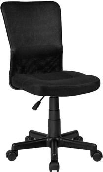 Bureaustoel kantoor design zwart NIEUW, 401793