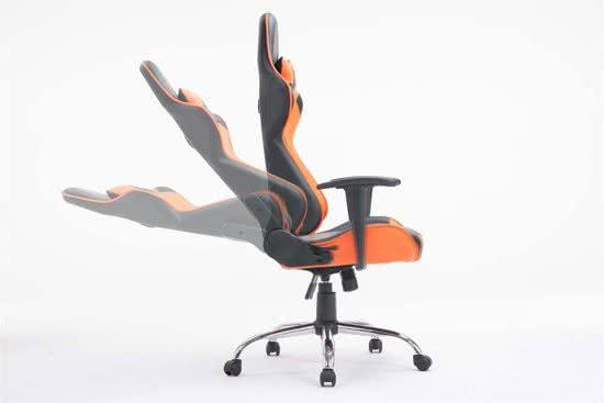 Clp Racing bureaustoel MIRACLE Sport seat Racer, Gaming chair - zware belasting tot 150 kg, ergonomisch - zwart/oranje