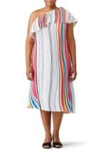 Rainbow Stripe Midi Dress by Rachel Rachel Roy