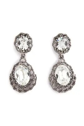 Ciner Marry Me Teardrop Earrings