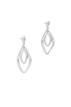 Alexis Bittar Silver Seeing Double Earrings