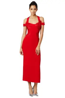 Marchesa Notte Front Lines Dress