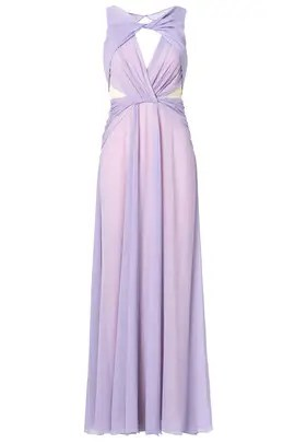 Badgley Mischka Pastel Petunia Gown
