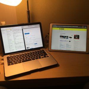 Macbook Pro と iPad Pro 12.9