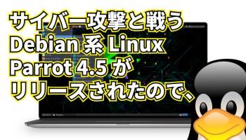 サイバー攻撃と戦うDebian系Parrot 4.5がリリースされたので、