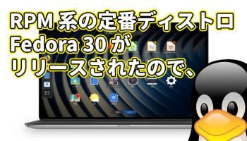 RPM 系の定番ディストロ Fedora 30 がリリースされたので、