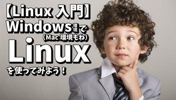 【Linux入門】Windows環境で(Mac環境もね)Linuxを使ってみよう!