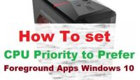 How to Set CPU Priority to Prefer Foreground Apps