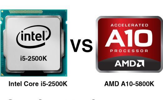 Difference between an AMD A10 and Intel i5 Processor