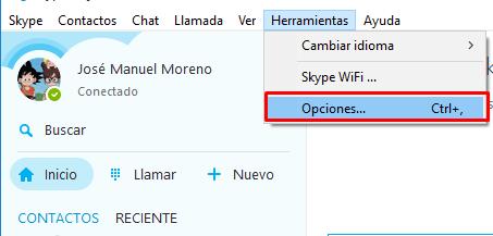 minimizar skype area notificación