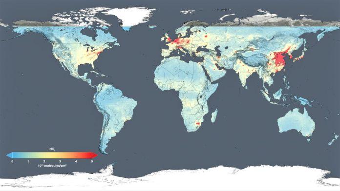 NASA Air Pollution Map