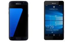 samsung Galaxy S7 Vs. Microsoft Lumia 950