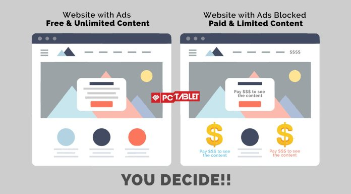 Please don't block Ads or publishers have to block access to free