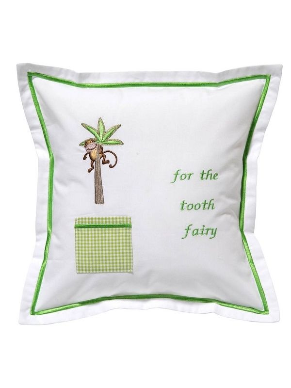 dg131 mipt tooth fairy pillow cover monkey in palm tree