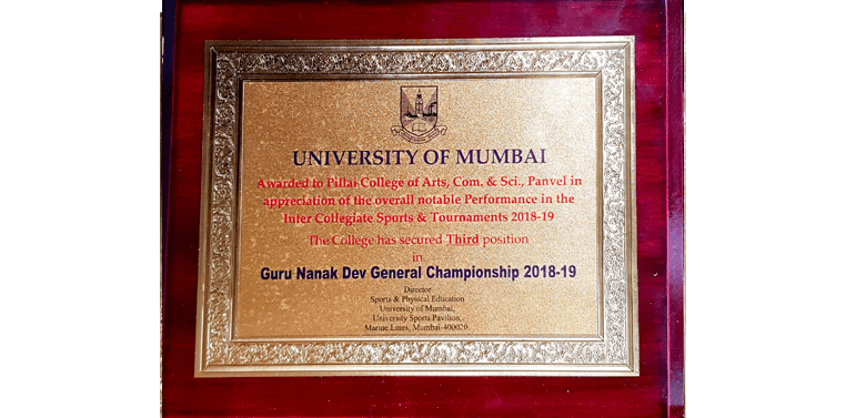 PCACS has secured 3rd position for Sports at University level in Guru Nanak Dev General Championship 2018-19