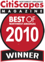 Best of Northwest Arkansas 2010 Winner by CitiScapes Magazine