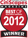 Best of Northwest Arkansas 2012 Winner by CitiScapes Magazine