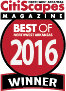 Best of Northwest Arkansas 2016 Winner by CitiScapes Magazine