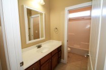 Guest bathroom in the hall.