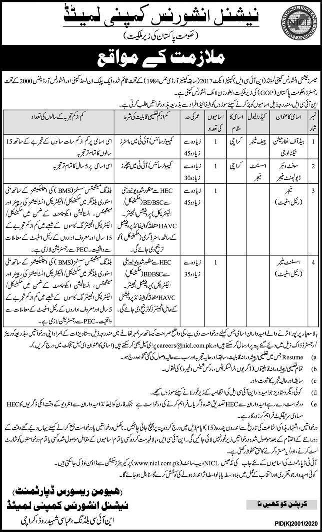 National Insurance Company Limited NICL Jobs 2021-2