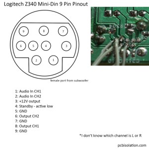 Logitech Z340 21 Pinout and Reuse – PCB Isolation