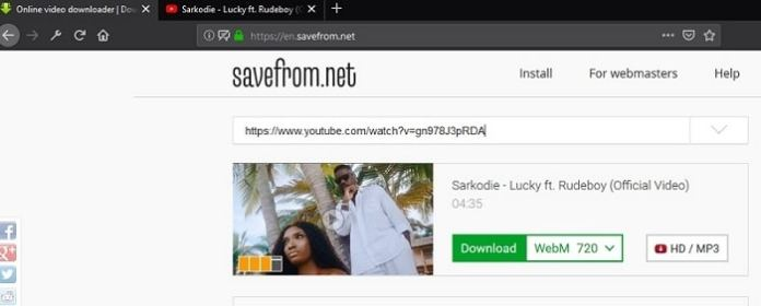 how to download youtube videos with savefrom.net