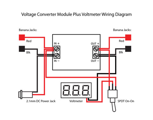 Step Up Step Down DC Buck Converter With Voltmeter | PCB Smoke