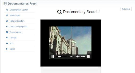 Documentaries app