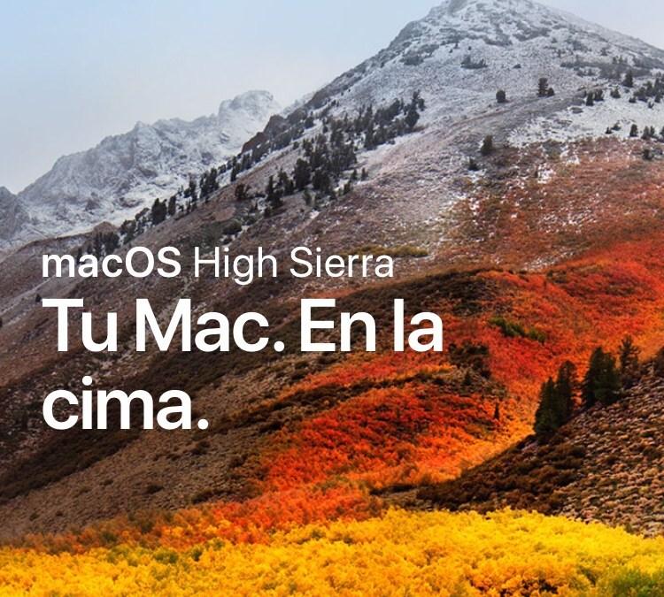 Llega macOS HIGH SIERRA de Apple.