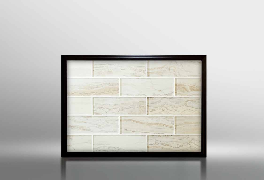 2x4 glass subway tile in champagne
