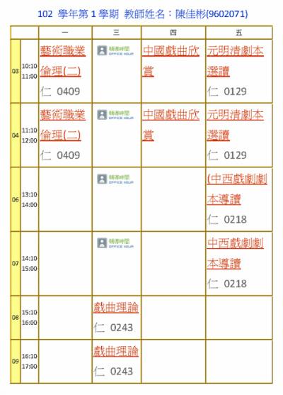 陳佳彬 老師 - 中國文化大學中國戲劇學系