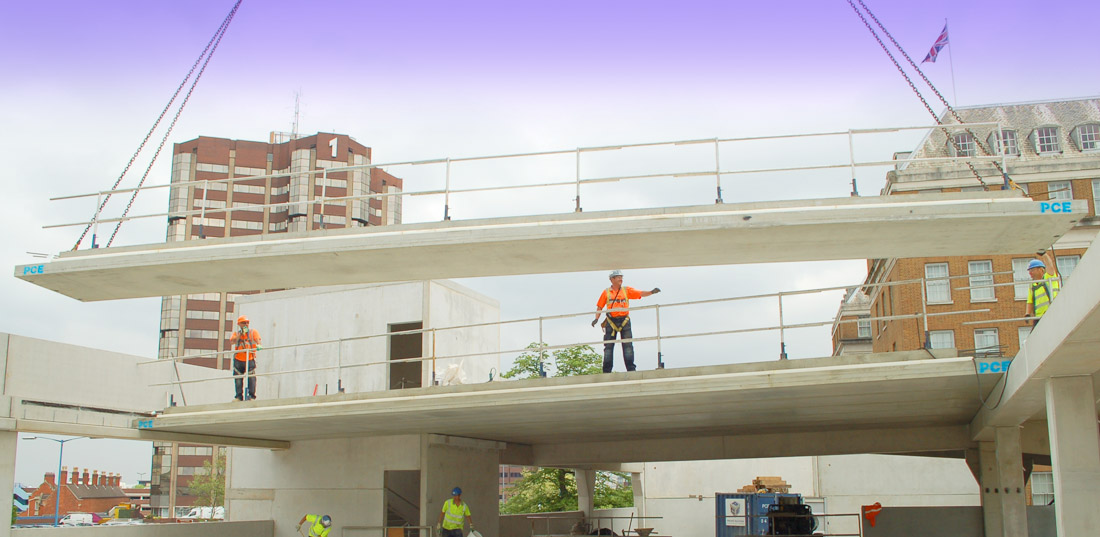 Pre-stressed concrete units up to 16 metres in length and 1.8 metres wide