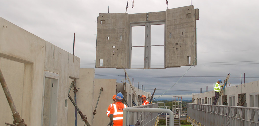 Highly functional precast construction reduces on-site labour