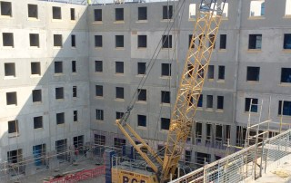 Precast concrete crosswall room solution by PCE