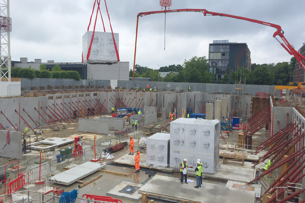 Capella update 5 – 250m³ of concrete into the retaining walls