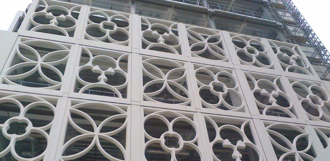 Precast concrete construction in Manchester, England