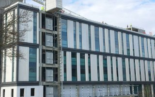 PCE delivered the seven suspended floors of the structure
