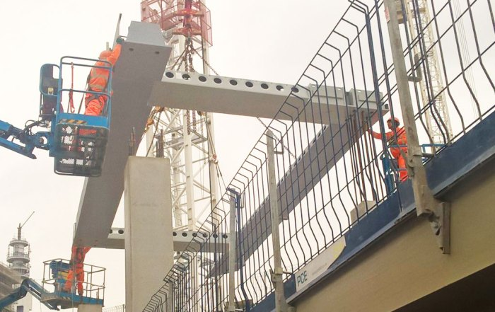 The latest steel Delta Beam units are the main focus of this stage of the development