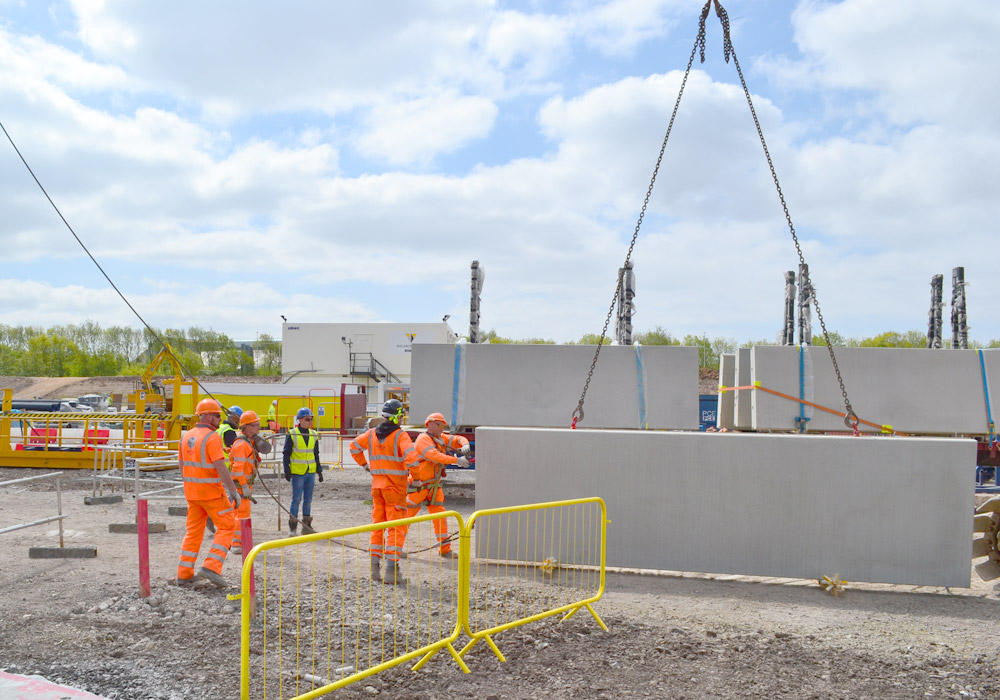 Blackpool Police HQ – project underway as precast units arrive on site