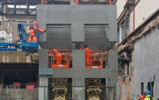 Precast concrete unit erection in Birmingham by PCE